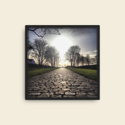 "Dream Path photo art on Canvas. Cobblestone road at Sønderborg Castle, DK. Original color version. Canvas dimensions: 40,64cm x 40,64cm / 16"" x 16"" 300dpi"