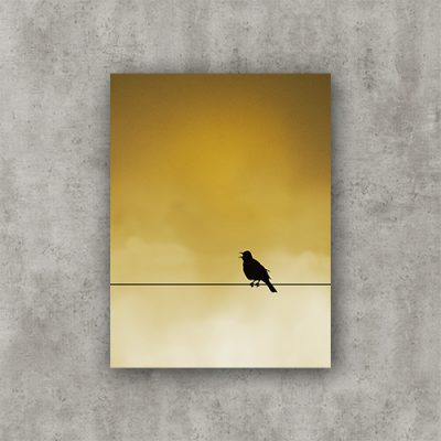 "Sing Bird, sunrise. Photo Poster Art with a partly glossy, partly matte finish. Dimension: 18""x24"""